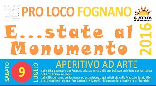 """E… STATE AL MONUMENTO"", APPUNTAMENTO A FOGNANO"