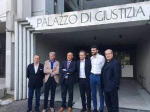 Il sottosegretario Luca Lotti in visita al Tribunale di Prato