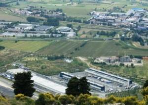 Prato, veduta aerea dell'interporto