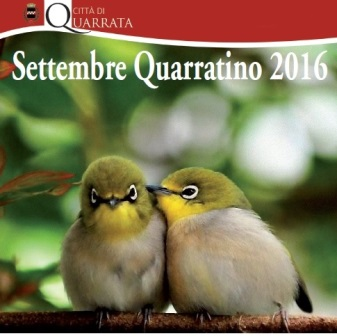 """quarrata. """"SETTEMBRE"""", CALENDARIO E NOVITÀ 2016"""