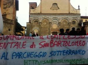 """Manifestazione del comitato """"No Parcheggio Sotterraneo"""""""