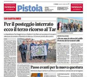Propaganda in prima pagina [Il Tirreno 12/3/2015]