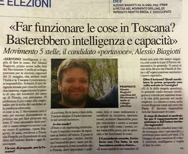 """m5s. L'ADDIO DI BIAGIOTTI: «FINITA LA FIDUCIA, RIMANGO """"GRILLINO""""»"""