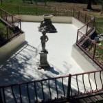 Gavinana, la fontana dei giardini