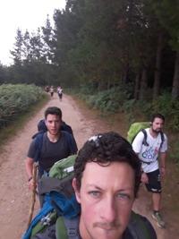 Il gruppo sfilacciato durante gli ultimi chilometri