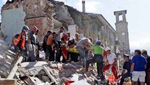 Amatrice. Scena post-terremoto