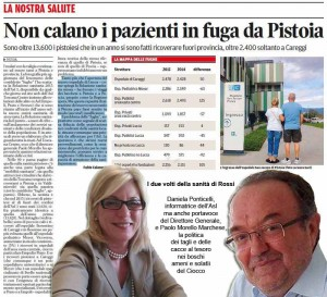 Il Tirreno, 22 agosto 2016 - Sanità