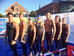 Copenhagen. La squadra azzurra di nuoto di fondo