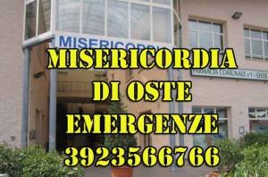 Il telefono delle emergenze della Misericordia di Oste