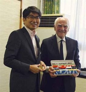 Il sindaco Taue con il professor Masotti