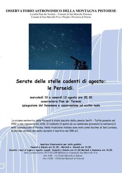 astronomia. LE LACRIME DI SAN LORENZO