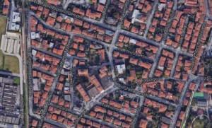 Pistoia. Zona di via Enrico Betti