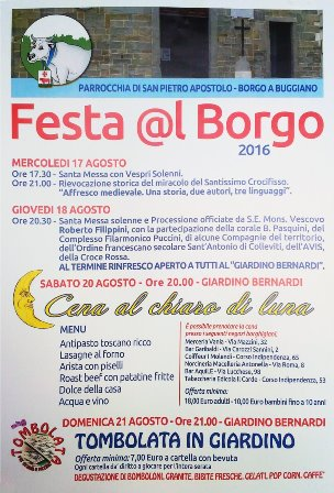"""borgo a buggiano. """"FESTA @L BORGO"""" 2016"""
