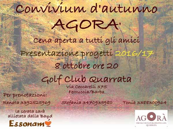 """""""CONVIVIUM D'AUTUNNO"""" AL GOLF CLUB QUARRATA"""