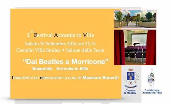 """montale. """"1° FESTIVAL ARMONIE IN VILLA"""""""