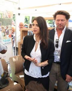 Virginia Raggi con Luca Caramella