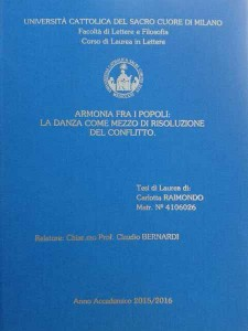 La tesi di Carlotta Raimondo
