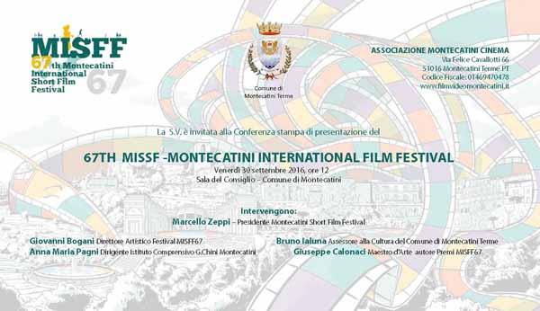 """montecatini. """"67° MISFF"""", FESTIVAL DEL CORTOMETRAGGIO"""