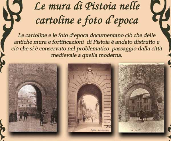 LE MURA DI PISTOIA NELLE CARTOLINE D'EPOCA