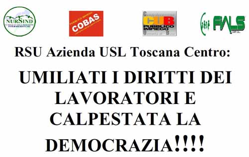 renzismo alla riscossa. SAN[T]ITÀ: «UMILIATI I DIRITTI DEI LAVORATORI E CALPESTATA LA DEMOCRAZIA!»