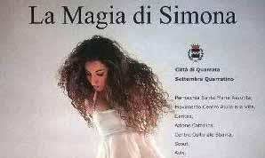 """quarrata. """"LA MAGIA di SIMONA"""", IN PIAZZA L'ARTISTA CON LE ALI"""
