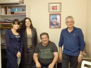 Alcuni dei componenti della commissione malattie professionali