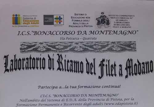 QUARRATA, CORSO DI RICAMO DEL FILET