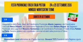 """montecatini. KERMESSE DI """"FORZA ITALIA"""" AL MINIGOLF"""