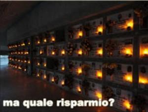 Le lampade votive di un cimitero