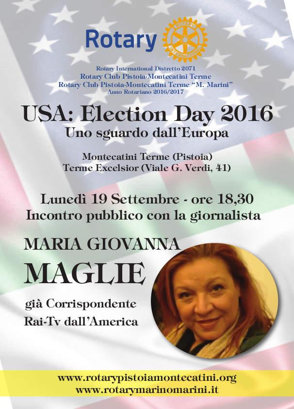 rotary. USA, ELECTION DAY 2016