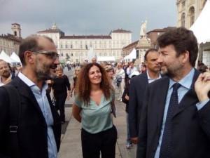 Tempestini e l'assessore De Paola con il ministro Franceschini