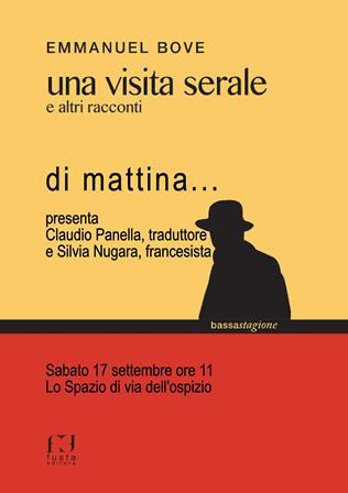 """libri. """"UNA VISITA SERALE"""", DI MATTINA IN VIA DELL'OSPIZIO"""