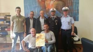 Nella foto l'assessore Forastiero con gli organizzatori della gara, Christian Giagnoni e Roberto Valerio della Cure to children