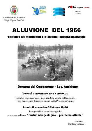 PONTE BUGGIANESE RICORDA L'ALLUVIONE DEL 66