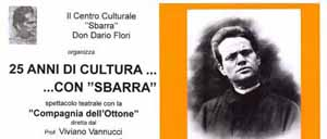 """25 ANNI DI CULTURA CON """"SBARRA"""""""