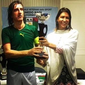 La Coppa del 2° Classificato con il Presidente Bardelli e il Capitano Tuci