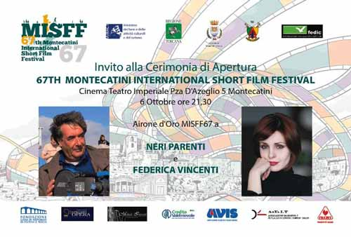 montecatini. INTERNATIONAL SHORT FILM FESTIVAL, 67ESIMA EDIZIONE