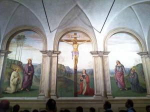 La Crocifissione del Perugino