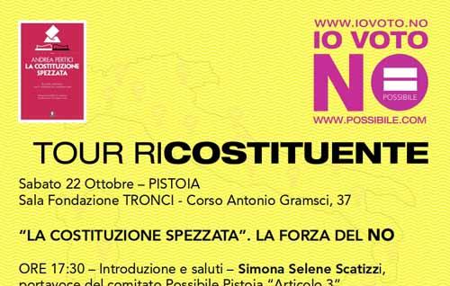 referendum. IL TOUR RI-COSTITUENTE DI POSSIBILE A PISTOIA