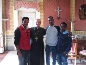 Il Vescovo Fausto incontra una delegazione di richiedenti asilo eritrei