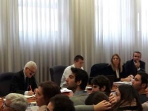 Da sinistra: Belpietro, la prof.ssa Cerrina Feroni e l'on. Parrini