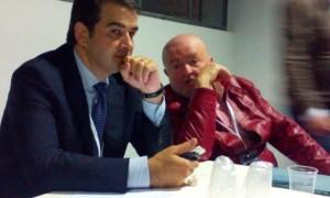 Raffaele Fitto, siede a uno dei tavoli tematici