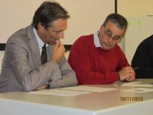 Il Dott. Renzo Berti a sinistra, direttore del Dip. Prevenzione di Usl Centro