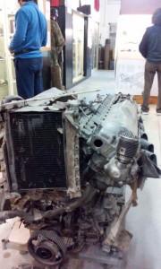 il motore di uno spitfire inglese