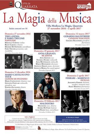 """quarrata. TORNA """"LA MAGIA DELLA MUSICA"""""""