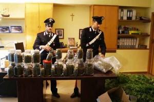 Parte della droga sequestrata. 1