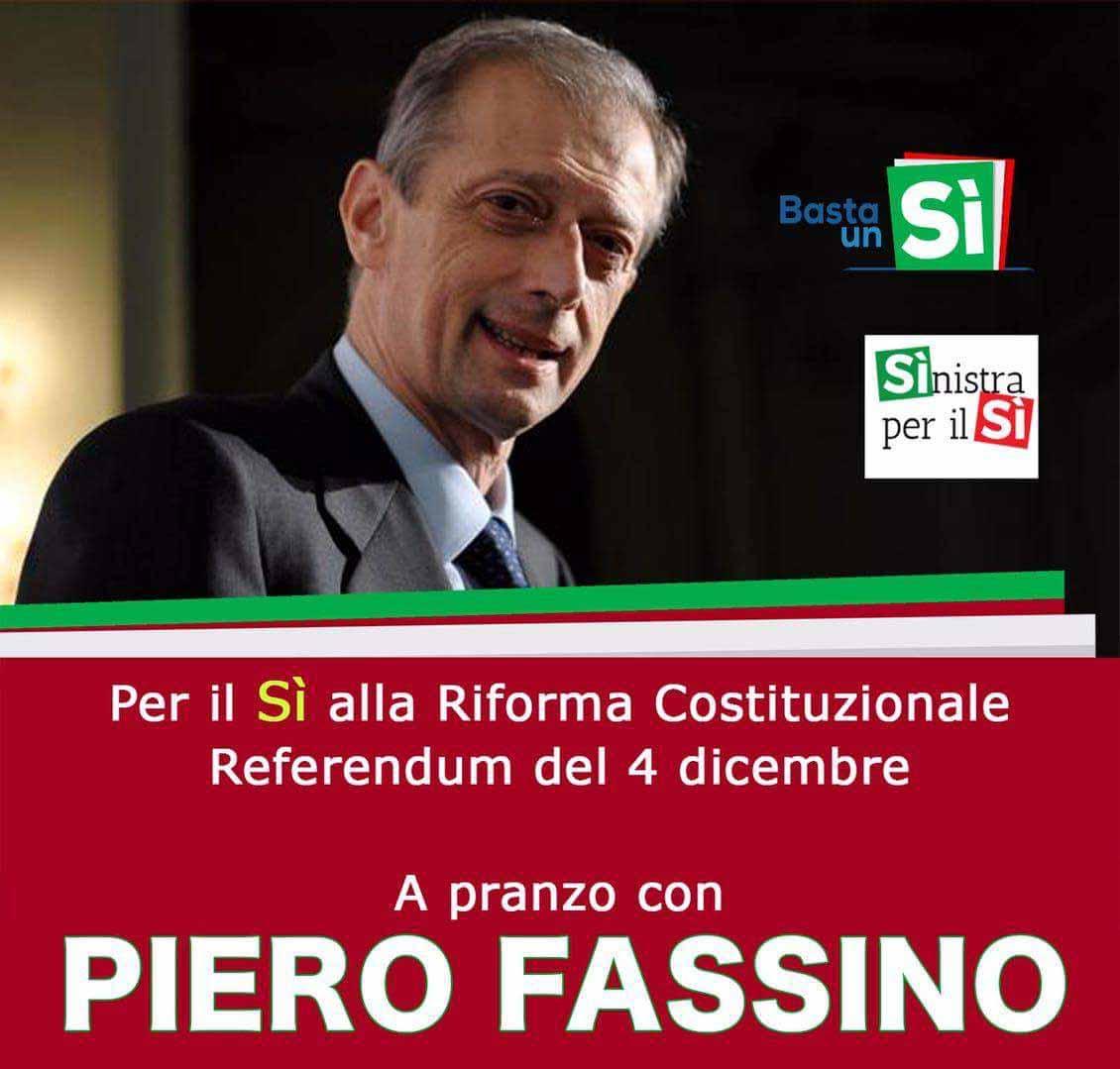 referendum. A PRANZO CON PIERO FASSINO