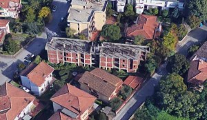 Veduta aerea dell'area di via Gora e Barbatole