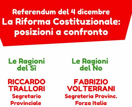 REFERENDUM, DUE INIZIATIVE A BOTTEGONE