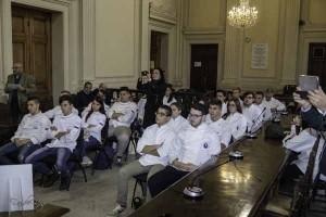 I giovani chef delle quattro scuole partecipanti